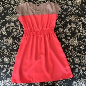 My Michelle Peach and Creme Dress